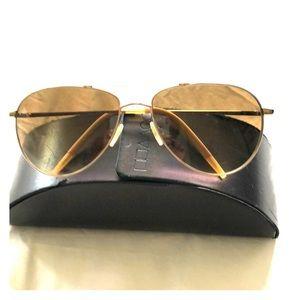 Oliver People's Benedict Aviator Sunglasses Gold
